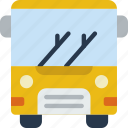 bus, car, distance, travel, vehicle icon