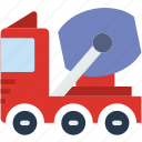 car, construction, distance, travel, truck, vehicle icon