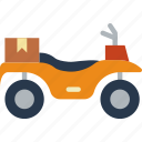 atv, car, distance, travel, vehicle icon