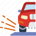 car, debris, distance, travel, vehicle icon