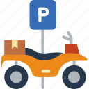 atv, car, distance, parked, travel, vehicle icon