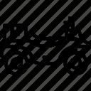 atv, car, distance, travel, vehicle icon
