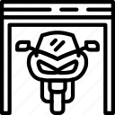 car, distance, garage, motorcycle, travel, vehicle icon