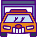 car, distance, garage, travel, vehicle icon