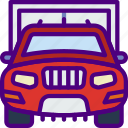 car, distance, garage, travel, vehicle icon