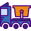 car, distance, garbage, travel, truck, vehicle icon