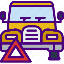 car, distance, tire, travel, vehicle icon