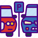 car, distance, parking, spot, travel, vehicle icon