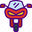 car, distance, motorcycle, travel, vehicle icon