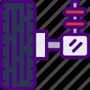 car, distance, suspension, travel, vehicle icon