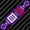 car, distance, piston, travel, vehicle icon