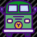 car, distance, travel, van, vehicle, vintage icon