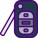 car, distance, key, regular, travel, vehicle icon