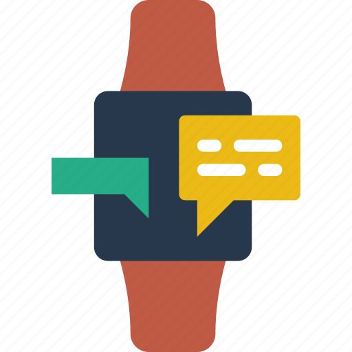 communication, contact, conversation, delivery, mail, message, smartwatch icon