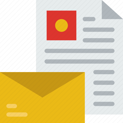 communication, contact, delivery, document, mail, message icon
