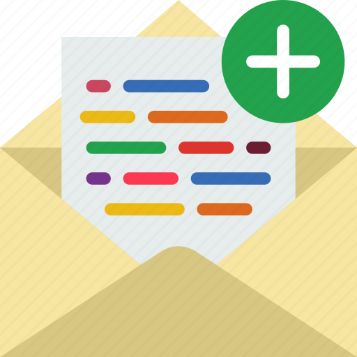 add, communication, contact, delivery, mail, message icon