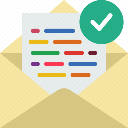 communication, contact, delivery, mail, message, success icon