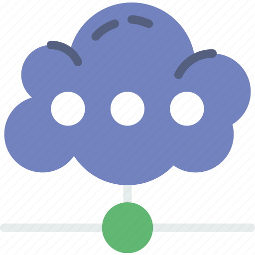 cloud, communication, contact, delivery, mail, message, storage icon