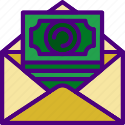 communication, contact, delivery, mail, message, money, send icon
