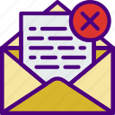 communication, contact, delete, delivery, mail, message icon