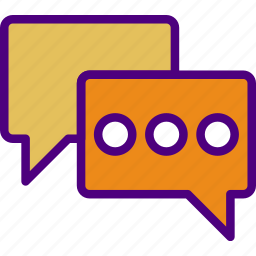 bubbles, chat, communication, contact, delivery, mail, message icon