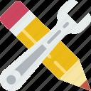 create, design, draw, illustration, paint, tools icon