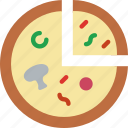 eat, food, fruit, funghi, kitchen, prosciutto icon