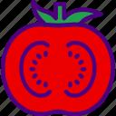 eat, food, fruit, kitchen, slice, tomato, vegetable icon