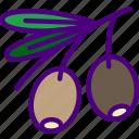 eat, food, fruit, kitchen, olives, vegetable icon