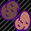 eat, food, fruit, kitchen, potatoes, vegetable icon