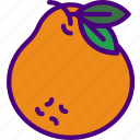eat, food, fruit, kitchen, tangerine, vegetable icon