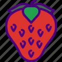 eat, food, fruit, kitchen, strawberry, vegetable icon
