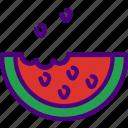 eat, food, fruit, kitchen, vegetable, watermelon icon