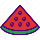 eat, food, fruit, kitchen, melon, red, vegetable icon