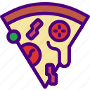 drink, eat, food, pizza, slice icon
