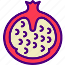 drink, eat, food, pizza, pomegranate icon