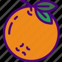 drink, eat, food, orange, pizza icon