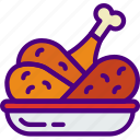 drink, eat, food, hot, pizza, wings icon