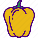 bell, drink, eat, food, pepper, pizza icon