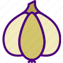 drink, eat, food, garlic, pizza icon