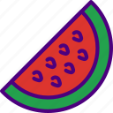 drink, eat, food, pizza, watermelon icon