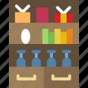 bookshelf, household, appliance, room, furniture icon