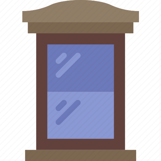 appliance, furniture, household, room, window icon