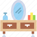 appliance, furniture, household, mirror, room, table icon
