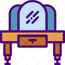 household, furniture, appliance, room, vanity icon