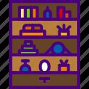 appliance, bookshelf, furniture, household, room icon
