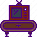 appliance, furniture, household, room, table, tv icon