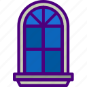 household, furniture, appliance, window, room icon