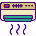 ac, appliance, furniture, household, room, unit icon