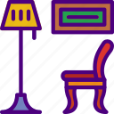 living, household, appliance, room, furniture icon